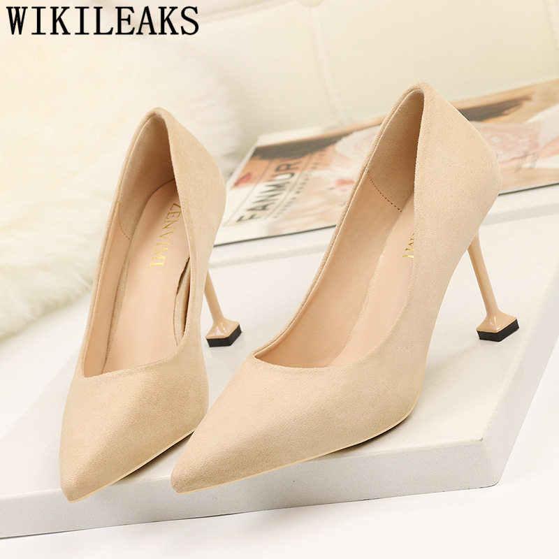 2019 nuova molla di arrivo scarpe tacchi nero di san valentino scarpe delle signore delle pompe scarpe verdi per le donne ufficio scarpe fetish tacchi alti buty