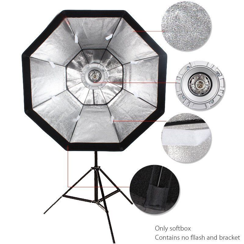 GODOX 95cm Octagon Umbrella Softbox & Bowens Mount Holder for Studio Flash godox studio flash accessories octagon softbox 37 95cm bowens mount with the gird for studio strobe flash light