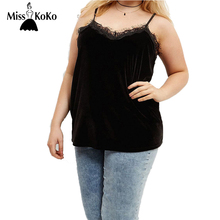 MissKoKo Plus Size Fashion Women Clothing Casual Solid Sexy V-Neck Lace Slim Loose Casual Big Size Tops 4XL 5XL 6XL