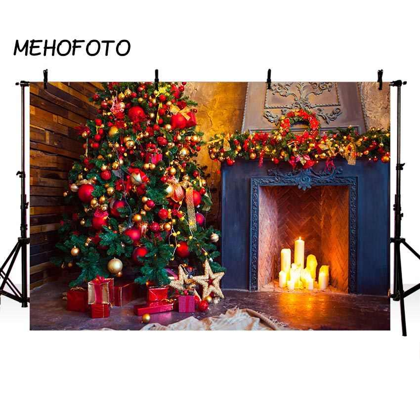 شجرة عيد الميلاد موقد جورب الموقد هدية بطانية التصوير خلفية سانتا الرنة جارلاند عيد الميلاد الكرة عيد الميلاد خلفية