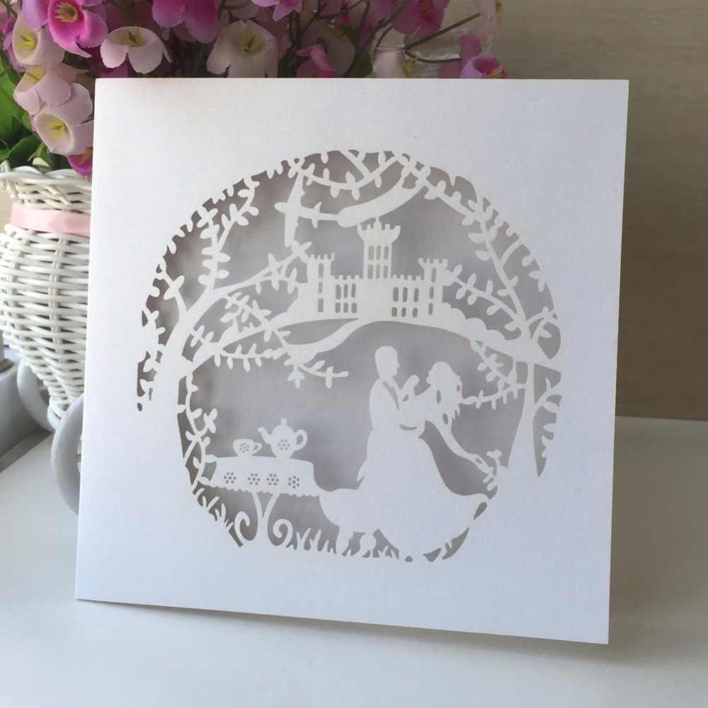 Postcard Wedding Invitations Card