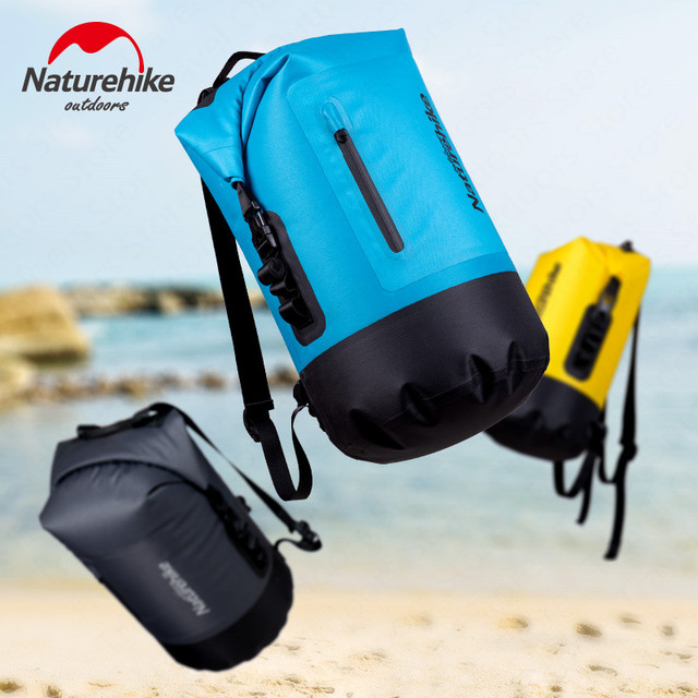 Naturehike Waterproof Bag Dry Bag TPU 20/30/40L Large Capacity Beach Swimming Bag Ultralight Drift Pack Backpack NH18F031-S 3