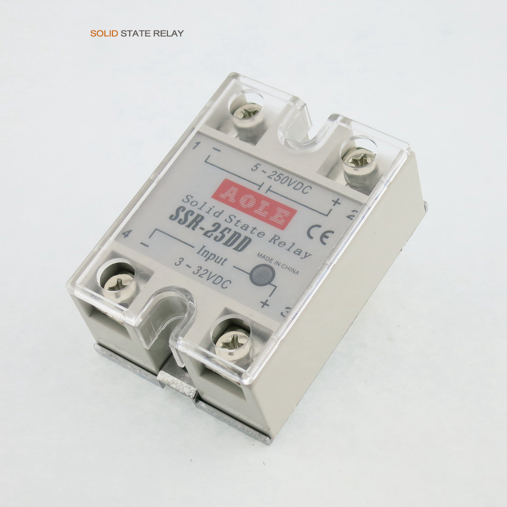 Newest 1pcs Solid State Relay Module SSR-25DD 25A /60V 3-32VDC Input 5-250VDC Output FREE SHIPPINGNewest 1pcs Solid State Relay Module SSR-25DD 25A /60V 3-32VDC Input 5-250VDC Output FREE SHIPPING