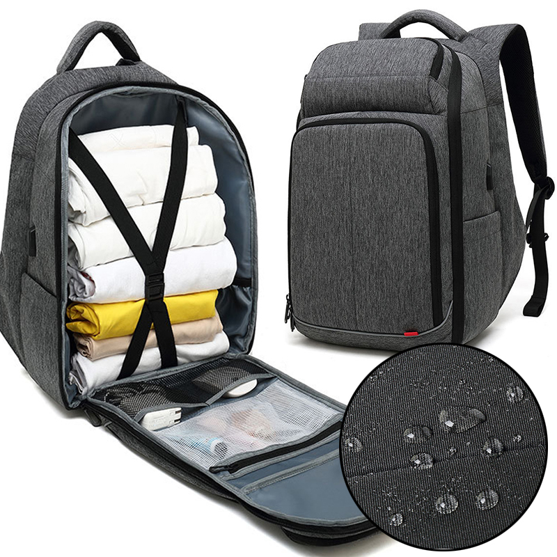 Nouveau sac à dos pour ordinateur portable 17 pouces pour homme sac à dos fonctionnel hydrofuge avec Port de chargement USB sacs à dos de voyage antivol masculin