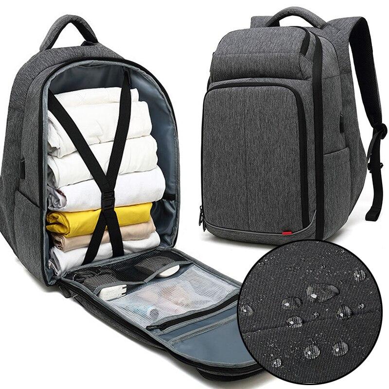 Novo 17 polegada portátil mochila para homem repelente de água funcional mochila com porta de carregamento usb mochilas de viagem masculino anti-roubo