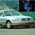 Free Shipping 10pcs/lot White Interior LED Lights For Audi A6 C4 1994-1997