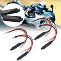 Mayitr 4 sztuk 12 V czarny uniwersalne LED na motocykl włącz wskaźnik sygnału rezystor Adapter Moto migacz Adapter LED rezystor obciążenia