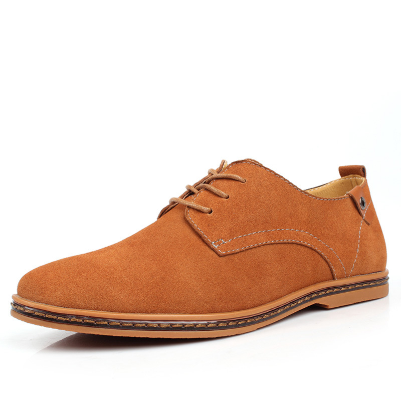 Fashion atas sepatu kasual pria 2018 Flat musim panas baru renda up - Sepatu Pria - Foto 4