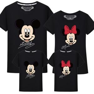 Image 1 - Ropa a juego para la familia, camiseta de Minnie y Mickey de algodón para papá e hija, camisa de trajes a juego, camiseta de aspecto familiar de maman fille