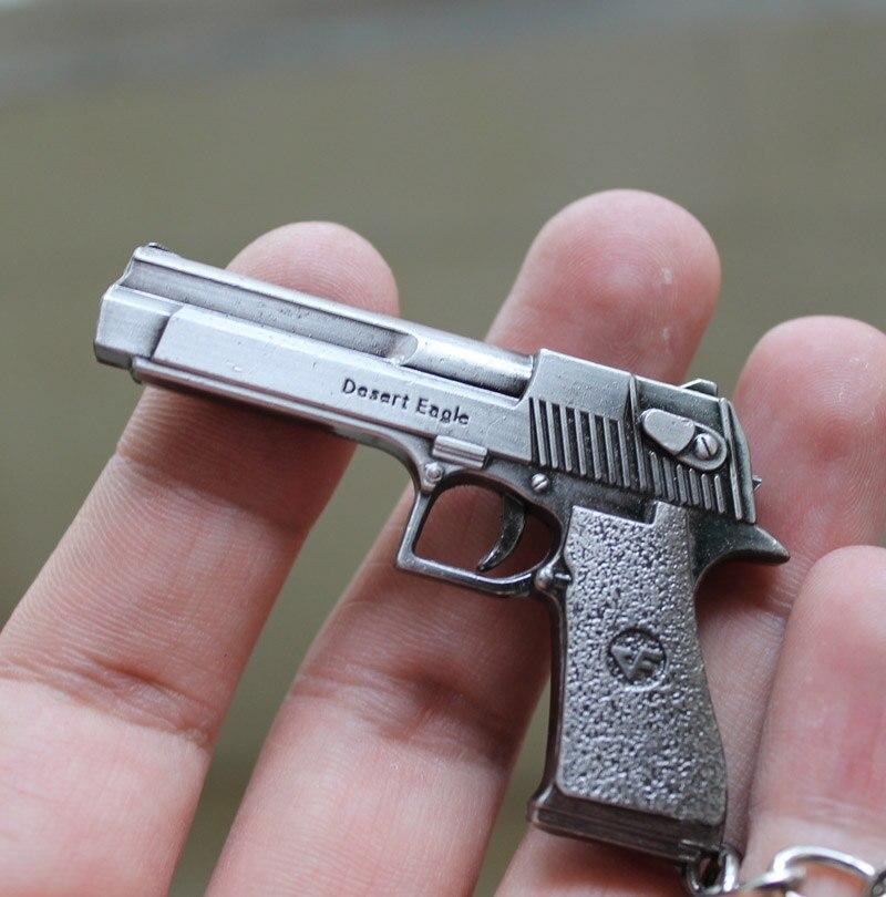 Counter Strike CS CF Imitation guns Desert Eagle Keychain Guns Keychain Key ring Chaveir ...