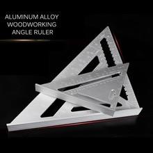 купить Portable Aluminum Alloy Triangular Ruler Speed Square Protractor Miter Woodworking Miter Framing Measuring Ruler по цене 263.33 рублей