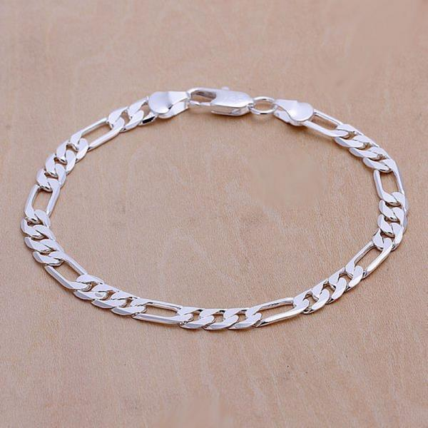 Lostpiece Men S 925 Sterling Silver Bracelet Figaro Chain 6mm 8 Whole Fashion Jewelry Lsph219 In Link Bracelets From