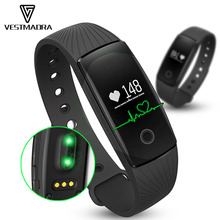 ID107 pulsometro Pulsera Bluetooth Smart Браслет Смарт часы монитор сердечного ритма фитнес-трекер PK fit бит Miband2 cicret