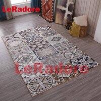 LeRadore Vintage Floor Rugs Retro Style Persian Carpets Bedroom Mat Anti slip Home Hotel Decorative Antistat Carpet 200*300cm