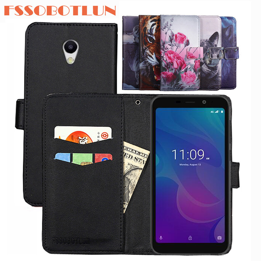 FSSOBOTLUN For Meizu C9 pro C9 Case PU Leather Retro Flip Cover Shell Magnetic Fashion Wallet Cases Kickstand Strap For Meizu C9