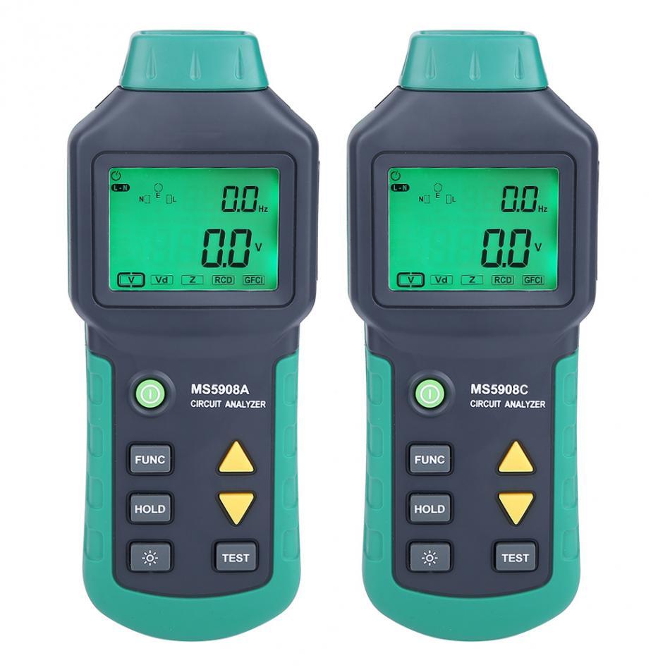 EU Plug AC100-240V MASTECH Analyseur de Circuit LCD avec Testeur de Tension GFCI RCD