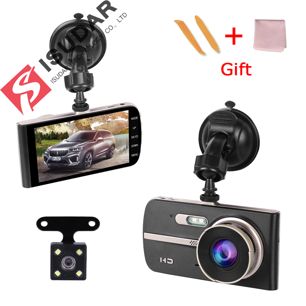 Isudar dash cam IPS 4.0 WDR 1080P car camera recorder dashcam g sensor adas car dvr motion detection parking guard dash camera