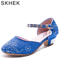 2016 Children Princess Sandals Kids Girls Wedding Shoes High Heels Dress Shoes Party Shoes For Girls