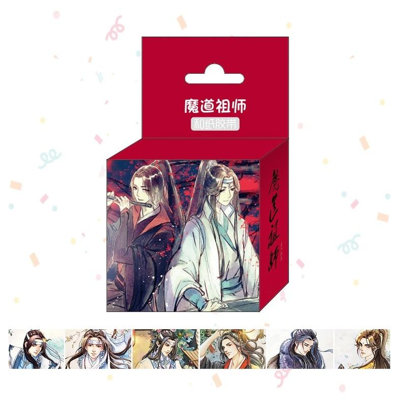 1.5cm*5m 2019 New Anime Mo Dao Zu Shi Washi Tape Cartoon Adhesive Tape DIY Scrapbooking Sticker Label Masking Tape