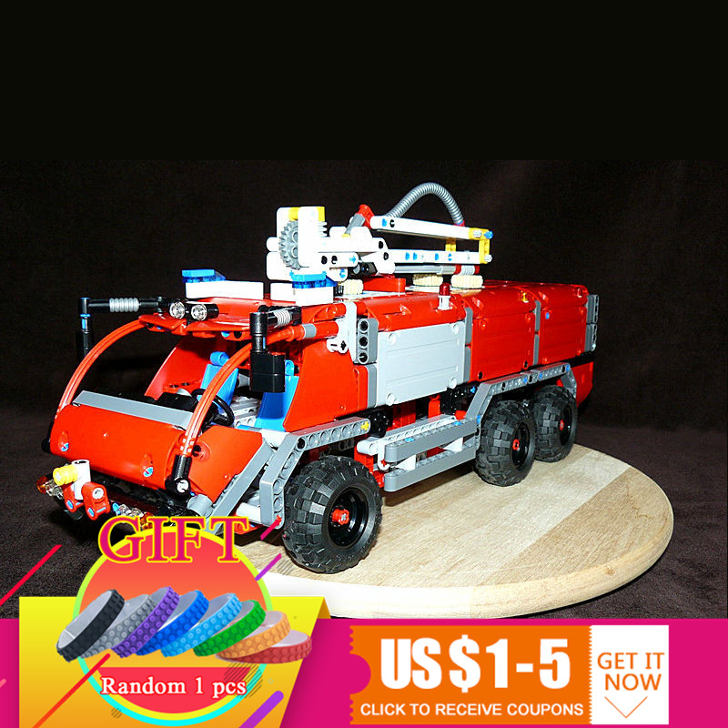 20055 1180Pcs Technical Series The Rescue Vehicle Set Children DIY Educational Building Blocks Compatible with 42068 toys the rescue