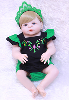 Full silicone reborn baby dolls 22 55cm girl bebe alive reborn bonecas can enter water with clothing magnetic bear pacifier