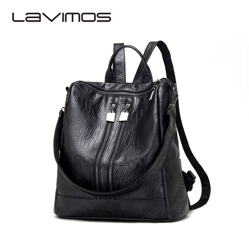 ФОТО 2017 Female Bag New Korean Version Of The New Fashion Backpack College Wind Bag Crocodile Pattern Shoulder Women Bag