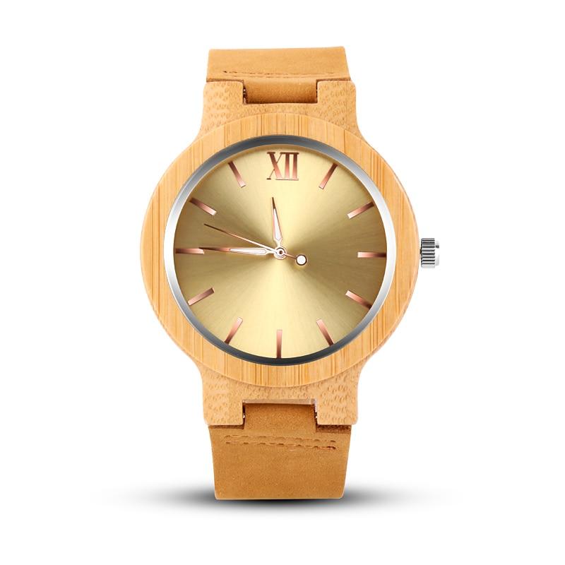 Top Luxury Gold Wood Watch Men