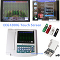CONTEC ECG1200G цифровой 12 каналов/свинец EKG + <font><b>PC</b></font> Синхронизация программного обеспечения, электрокардиограф CE, FDA
