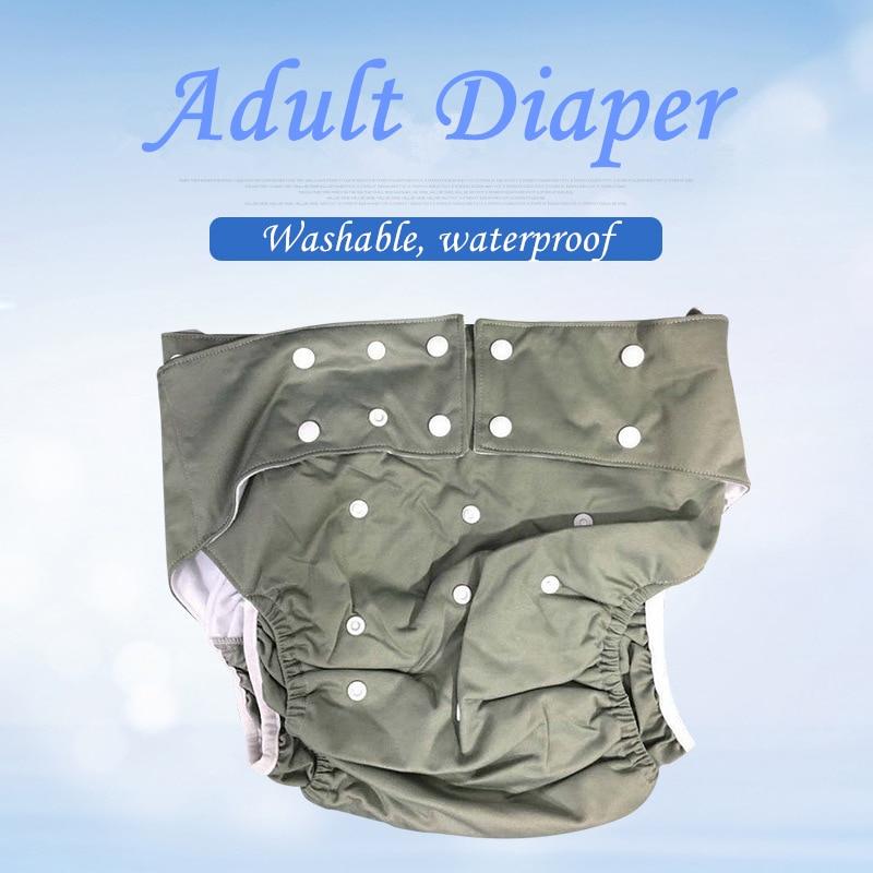 c60bca727da9 Cheap Comercio al por mayor lavable impermeable Super gran reutilizable pañal  para adultos incontinencia y discapacitados