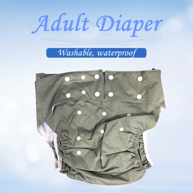Wholesale Washable Waterproof Super Large Reusable Adult Diaper For Incontinence And  Disabled  Old People