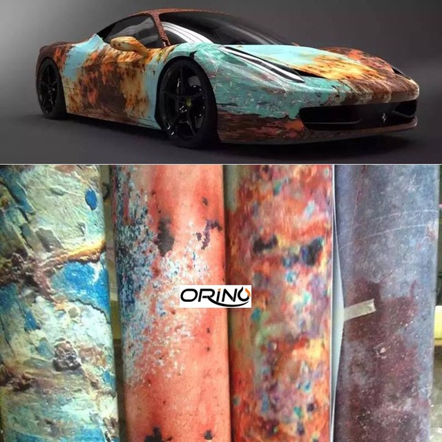 1 5230m car stickers rust vinyl car sticker bomb styling car body sticker vinyl film
