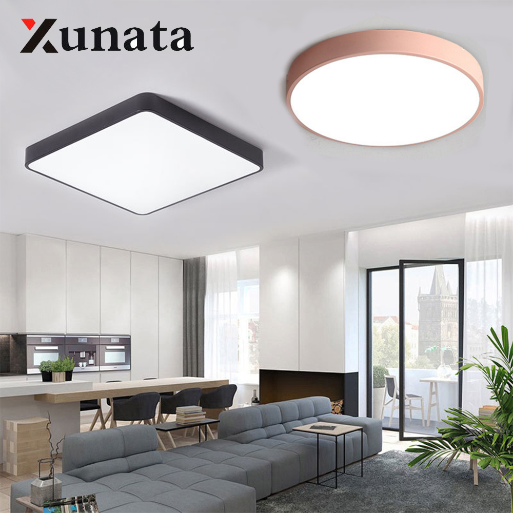 AC85-265V LED Ceiling Light 15W 18W Modern LED Lamp Mount Flush Remote Control Ceiling Lamp Living Room Lighting