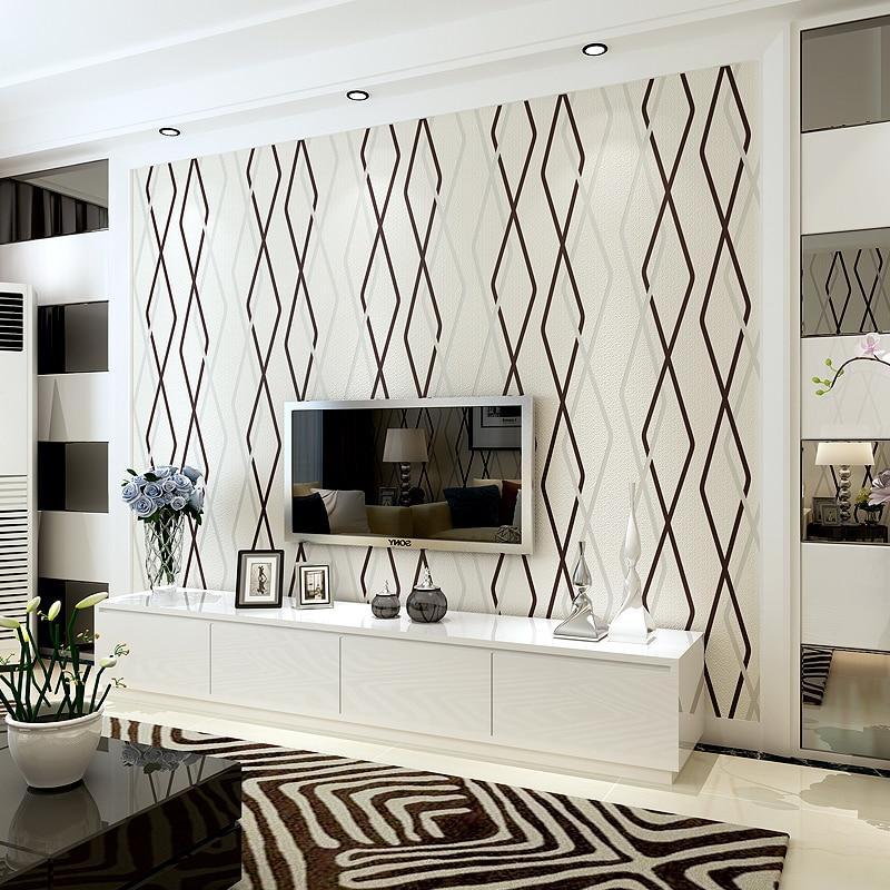 Style européen 3D stéréo courbe rayure Non-tissé papier peint moderne Simple salon chambre TV fond d'écran papier peint pour murs 3D