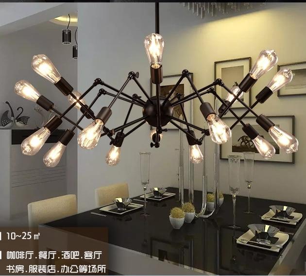 modern loft iron spider pendant light living room restaurant retro decorative hanging lamps|Pendant Lights| |  - title=