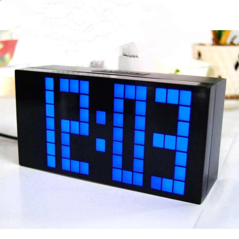 Alarm clock LED Digital clocks Electronic desk clock Despertador Reloj despertador Despertador de Cabeceira Large screen display