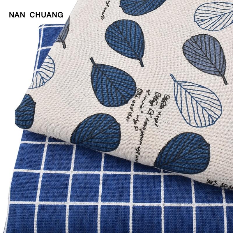 NanChuang blatt Druck Baumwolle Leinen Quilten Stoff Für DIY Nähen - Kunst, Handwerk und Nähen