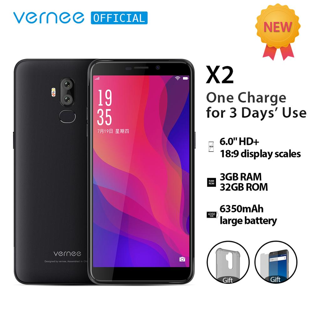 Vernee X2 6 0 inch 6350mAh cellphone 4G LTE Quick Charge 3GB RAM smartphone Android 9