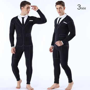 3MM Diving Clothes Conjoined Cold-proof Warm-keeping Diving Clothes Individualized Men's Western Clothing Diving Clothes