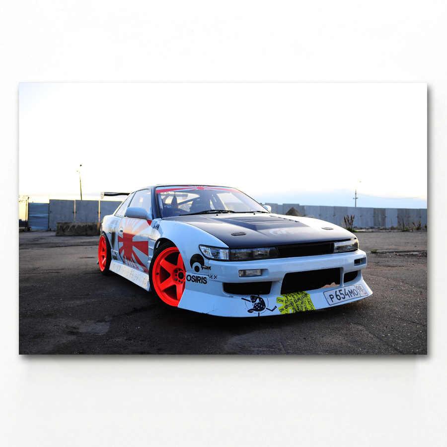 日産シルビア S13 車の車両壁紙ウォールアートポスターと版画
