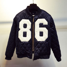 New Fashion Women's Jacket Embroidered Digital Compression Format 86 Short Paragraph Female Baseball Jacket/Jacket coat P1992