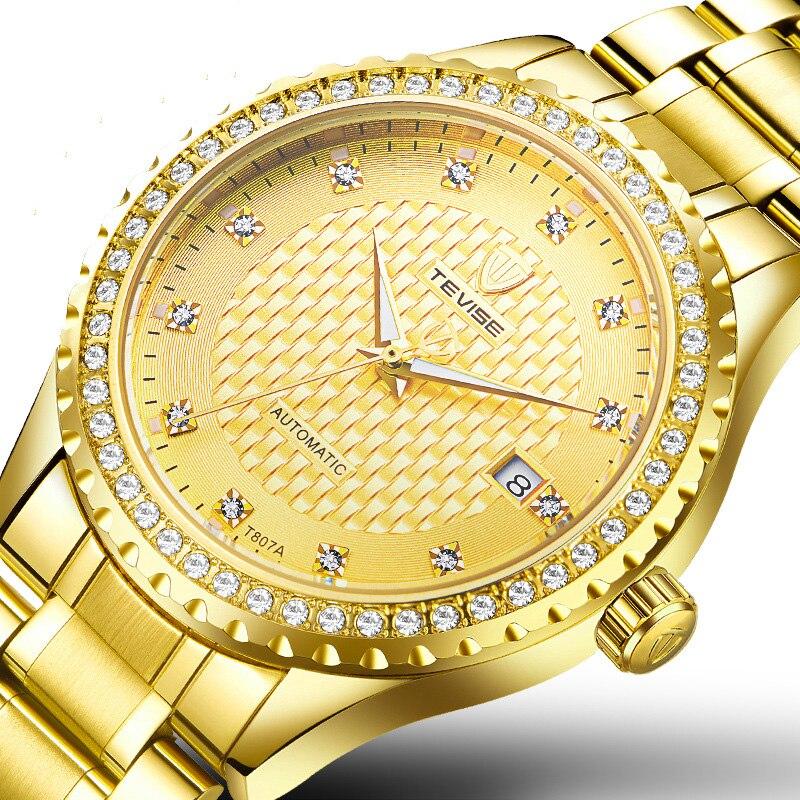 NEW Creative male watches luxury Automatic Mechanical Wrist watch men diamond waterproof Luminous business relogio masculi T807A