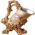 Ретро креативный Европейский стиль роскошный цветочный держатель для винных бутылок Золотая Смола подставка для вина аксессуары для гости...