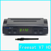 Freesat V7 Satellite TV Receiver Support Card Sharing CCcam NEWcam Biss Key PoweVu USB WiFi 1080P