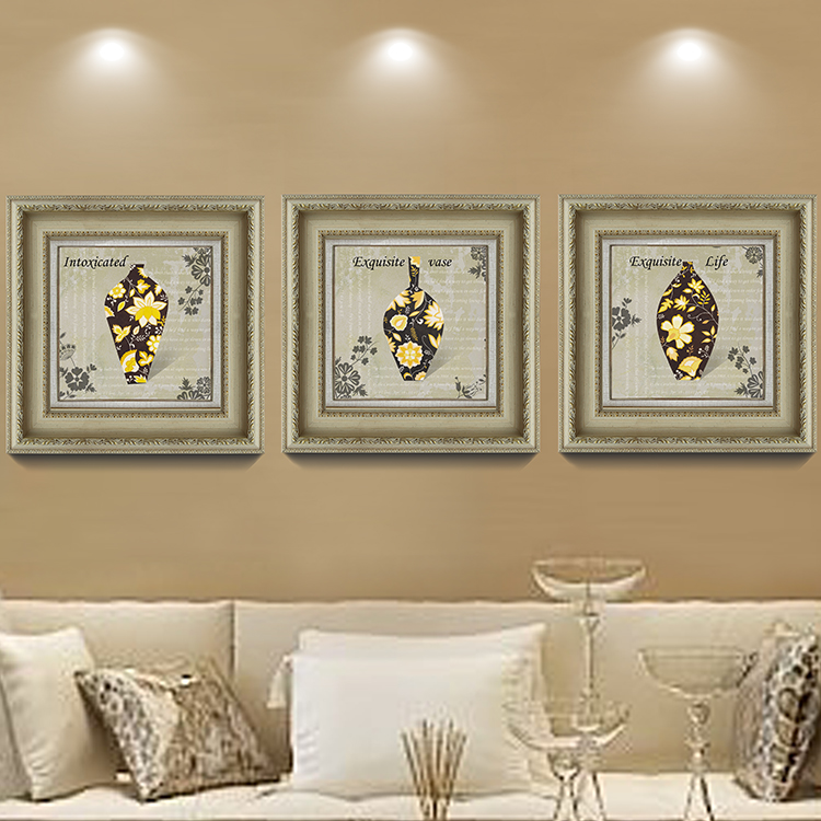 3 Pieces Retro Flowers Wall Picture for Living Room Home ...