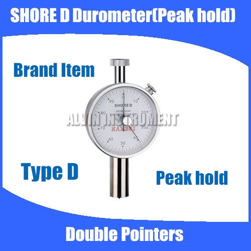 Shore Hardness Tester Meter Type D Rubber shore Durometer Double Pointers Peak Hold Free shipping free shipping digital shore hardness tester meter shore durometer rubber hardness tester standards din53505 astmd2240 jisr7215