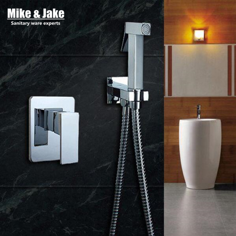 Bathroom bidet shower mixer toilet spray bidet shower set include hand shower gun bidet taps