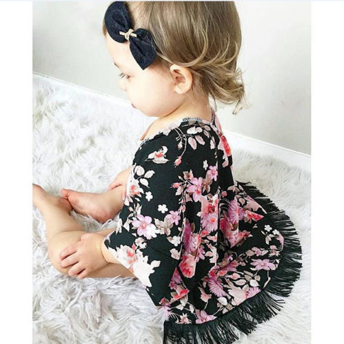 Kids Child Baby Girls Clothes Lace Tassel Coats Kimono Cardigan Shawl Cover UP Outfits