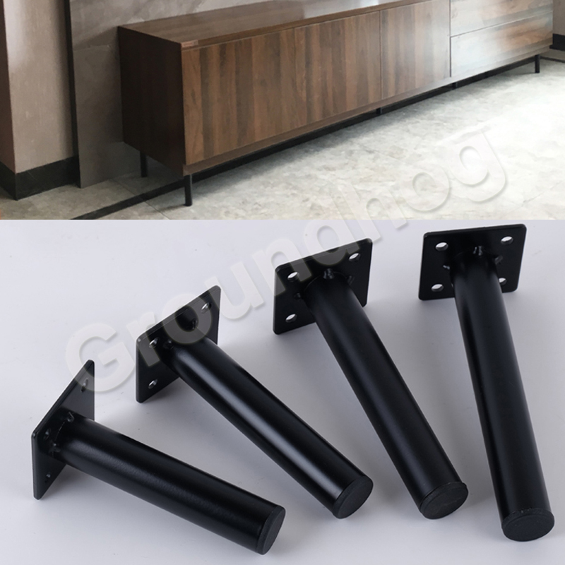 4pcs Furniture Table Legs Metal Sofa Cabinet Furniture Leg Feet Round 130/150/170 Mm Coffee Tea Bar Stool Chair Leg Feet