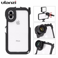 Ulanzi Metal Bumper Cover Phone Case Frame for iPhone X/XS XS/MAX, w Mic Cold Shoe Mount & 17mm Lens Adapter for Moment lens