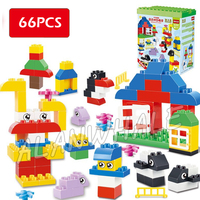 66pcs My First Polar Baby animals Zoo Park Penguin Creative Model Building Blocks Toys Bricks Compatible With Lego Duplo